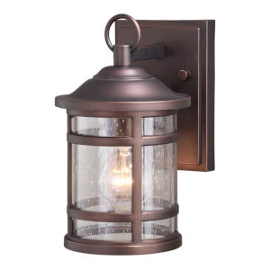 Southport Sienna Bronze 6-Inch One-Light Outdoor Wall Mounted