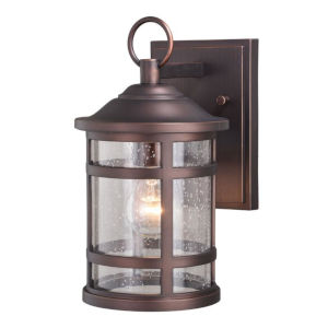 Southport Sienna Bronze 7-Inch One-Light Outdoor Wall Mounted