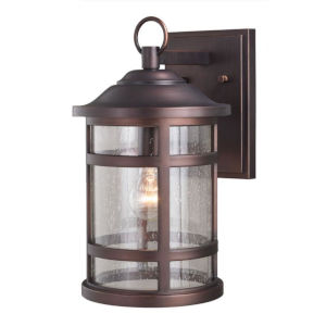 Southport Sienna Bronze 9-Inch One-Light Outdoor Wall Mounted