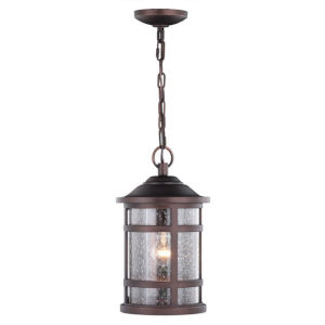 Southport Sienna Bronze One-Light Adjustable Outdoor Pendant