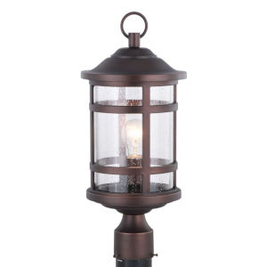 Southport Sienna Bronze One-Light Outdoor Post