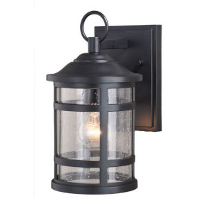 Southport Matte Black 7-Inch One-Light Outdoor Wall Mounted