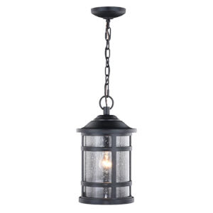 Southport Matte Black One-Light Adjustable Outdoor Pendant