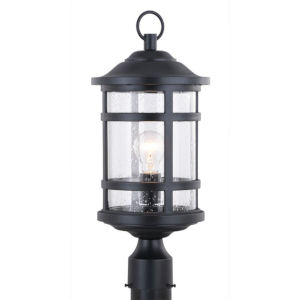 Southport Matte Black One-Light Outdoor Post