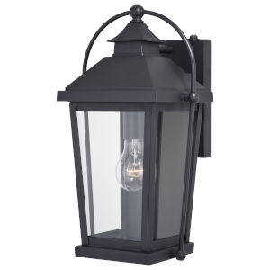 Lexington Textured Black One-Light Outdoor Wall Sconce