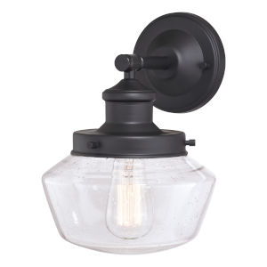 Collins Matte Black 10-Inch One-Light Outdoor Wall Sconce