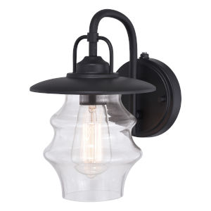 Glenn Textured Black 10-Inch One-Light Outdoor Wall Sconce