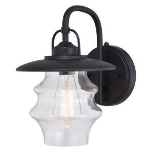 Glenn Textured Black Seven-Inch One-Light Outdoor Wall Sconce