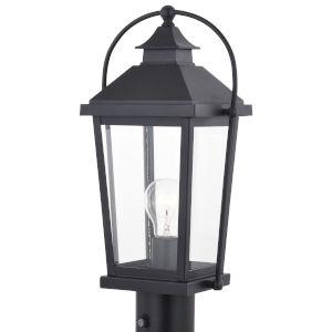 Lexington Textured Black One-Light Outdoor Post