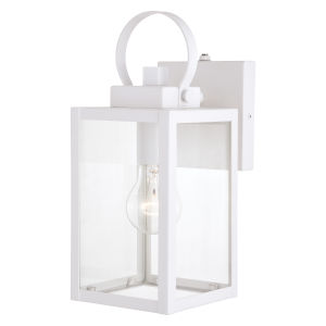 Medinah Textured White Five-Inch One-Light Outdoor Wall Sconce