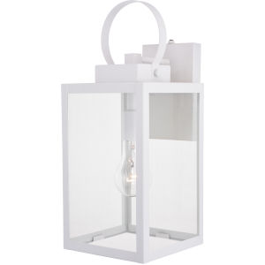 Medinah Textured White One-Light Outdoor Wall Sconce