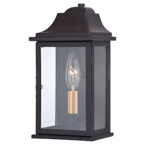 Bristol Oil Burnished Bronze and Light Gold One-Light Outdoor Wall Sconce