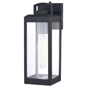 Kinzie Textured Black Eight-Inch One-Light Outdoor Wall Sconce