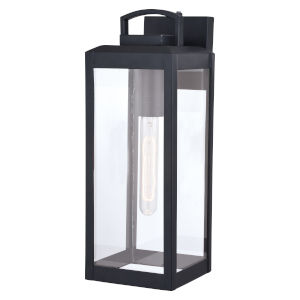 Kinzie Textured Black Five-Inch One-Light Outdoor Wall Sconce