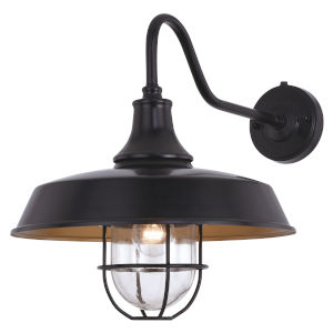 Dorado Dark Bronze and Light Gold One-Light Outdoor Wall Sconce