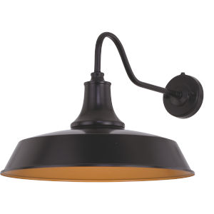 Dorado Dark Bronze and Light Gold 18-Inch One-Light Outdoor Wall Sconce