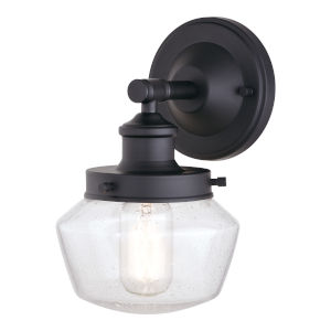 Collins Matte Black One-Light Outdoor Wall Sconce