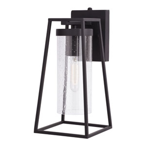 Nash Textured Black Seven-Inch One-Light Outdoor Wall Sconce