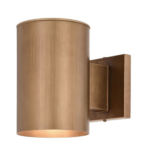 Chiasso Warm Brass One-Light Outdoor Wall Sconce