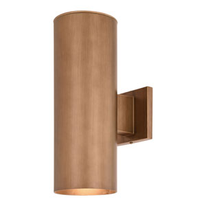 Chiasso Warm Brass Two-Light Outdoor Wall Sconce