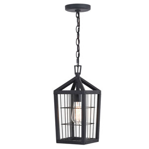 Gage Volcanic Black One-Light Outdoor Pendant