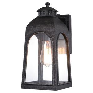 Pilsen Brushed Charcoal One-Light Outdoor Wall Sconce