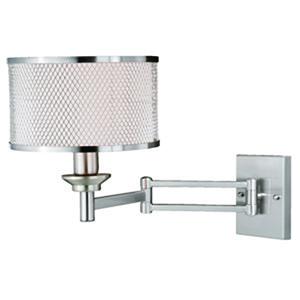 Polk Satin Nickel 10-Inch 1-Light Sensor Wall Sconce