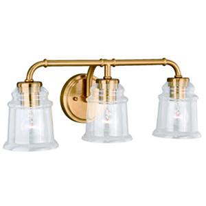 Toledo Natural Brass 22-Inch 3-Light Bath Vanity