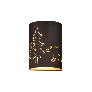 Katmai Noble Bronze and Inner Brass Gold Two-Light Wall Sconce