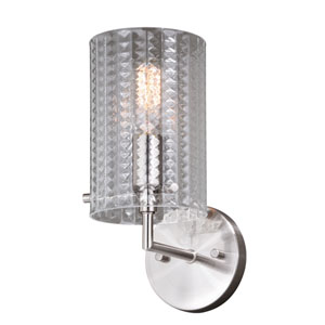 Ella Satin Nickel One-Light Wall Sconce