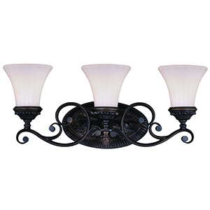 Avenant Venetian Bronze Three-Light Reversible Vanity Light