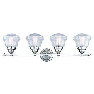 Huntley Satin Nickel Four-Light Reversible Vanity Light