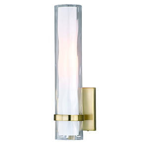 Vilo Golden Brass Four-Inch One-Light ADA Wall Sconce