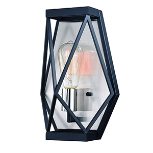 Hailey Black Graphite and Satin Nickel One-Light Wall Sconce