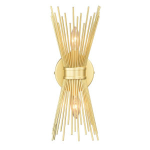 Nikko Gold Two-Light Wall Sconce