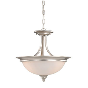 Avalon Brushed Nickel Two-Light 15-Inch Semi-Flush Ceiling Light