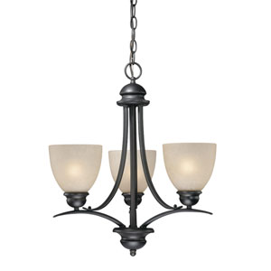 Avalon Oil Burnished Bronze Three-Light Chandelier