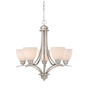 Avalon Brushed Nickel Five-Light Chandelier