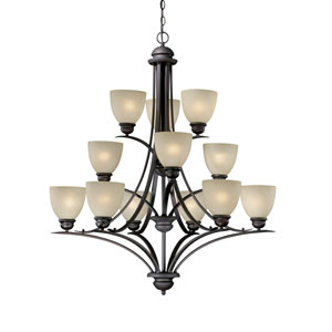 Avalon Oil Burnished Bronze Twelve-Light Chandelier