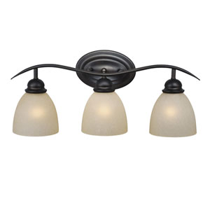 Avalon Oil Burnished Bronze Three-Light Vanity