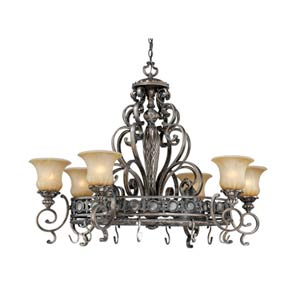 Bellagio Parisian Bronze Eight-Light Trestle Pendant