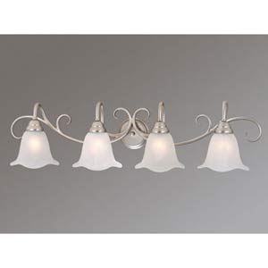 Bella Brushed Nickel Four-Light Bath Fixture