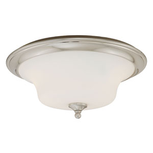 Sonora Two-Light Satin Nickel Ceiling Light