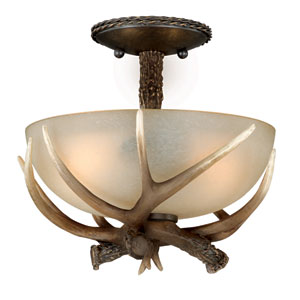 Yoho Two-Light Black Walnut Ceiling Light