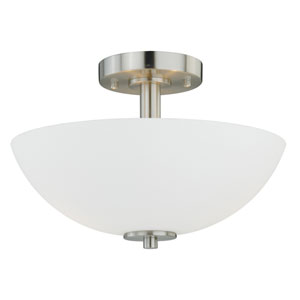 Glendale Satin Nickel 13-Inch Semi-Flush Mount