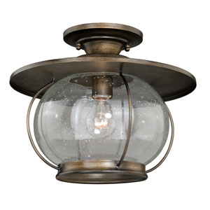 Jamestown Parisian Bronze One-Light Outdoor Semi Flush Mount