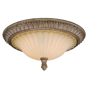 Avenant French Bronze Three-Light Flush Mount
