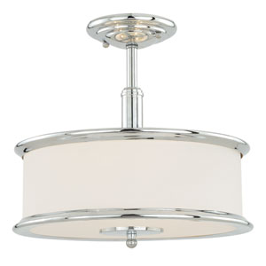 Carlisle Chrome Three-Light Semi-Flush Mount
