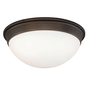 Sorin Architectural Bronze Two-Light Flush Mount