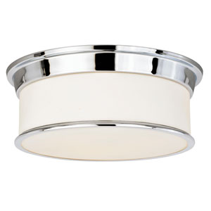 Carlisle Chrome Three-Light Flush Mount
